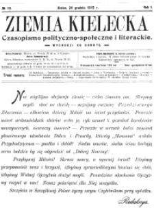 Ziemia Kielecka. Czasopismo polityczno-społeczne i literackie 1915, R.1, nr 5
