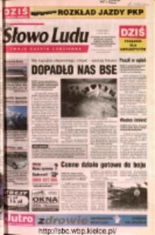 Słowo Ludu 2002 R.LIV, nr 103 (Ostrowiec, Starachowice, Skarżysko, Końskie, Ponidzie, Jędrzejów, Włoszczowa, Sandomierz, Staszów, Opatów)