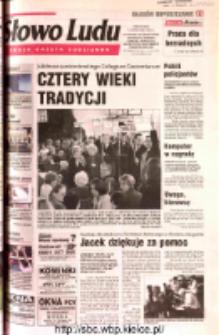 Słowo Ludu 2002 R.LIV, nr 233 (Ostrowiec, Starachowice, Skarżysko, Końskie, Ponidzie, Jędrzejów, Włoszczowa, Sandomierz, Staszów, Opatów)