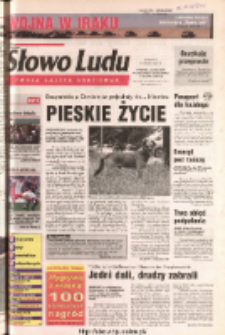 Słowo Ludu 2003 R.LIV, nr 73 (Ponidzie, Jędrzejów, Włoszczowa, Sandomierz, Staszów, Opatów)