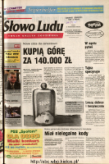 Słowo Ludu 2004 R.LV, nr 252 (Ponidzie, Jędrzejów, Włoszczowa, Sandomierz, Staszów, Opatów)