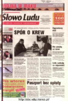 Słowo Ludu 2003 R.LIV, nr 69 (Ostrowiec, Starachowice, Skarżysko, Końskie, Ponidzie, Jędrzejów, Włoszczowa, Sandomierz, Staszów, Opatów)