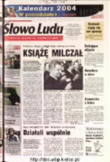 Słowo Ludu 2003 R.LIV, nr 271 (Ostrowiec, Starachowice, Skarżysko, Końskie, Ponidzie, Jędrzejów, Włoszczowa, Sandomierz, Staszów, Opatów)