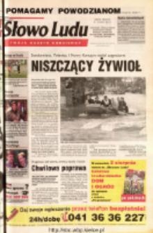 Słowo Ludu 2001 R.LII, nr 174 (Ostrowiec, Starachowice, Skarżysko, Końskie, Ponidzie, Jędrzejów, Włoszczowa, Sandomierz, Staszów, Opatów)