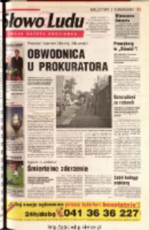 Słowo Ludu 2001 R.LII, nr 191 (Ostrowiec, Starachowice, Skarżysko, Końskie, Ponidzie, Jędrzejów, Włoszczowa, Sandomierz, Staszów, Opatów)