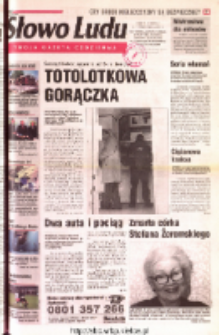 Słowo Ludu 2001 R.LII, nr 233 (Ostrowiec, Starachowice, Skarżysko, Końskie, Ponidzie, Jędrzejów, Włoszczowa, Sandomierz, Staszów, Opatów)