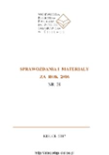 Sprawozdania i materiały za rok 2016, nr 29