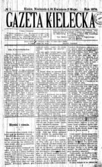 Gazeta Kielecka, 1873, R.4, nr 1
