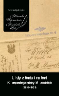 Listy z frontu i na front : korespondencja rodziny Massalskich (1914-1921)