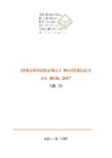 Sprawozdania i materiały za rok 2017, nr 30