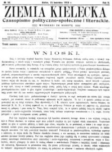 Ziemia Kielecka. Czasopismo polityczno-społeczne i literackie 1916, R.2, nr 1