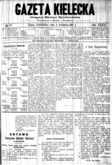 Gazeta Kielecka, 1909, R.40, nr 84