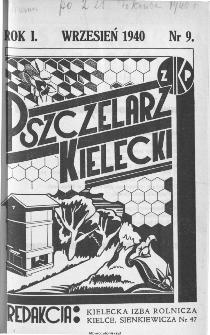 Pszczelarz Kielecki : miesięcznik pszczelarski poświęcony propagandzie nowoczesnego pszczelarstwa, 1940, nr 4 (9)