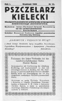 Pszczelarz Kielecki : miesięcznik pszczelarski poświęcony propagandzie nowoczesnego pszczelarstwa, 1940, nr 7 (12)