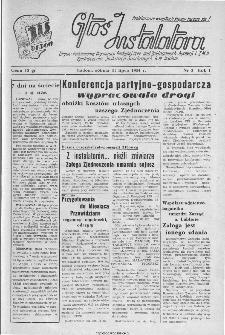 Głos Instalatora : organ Podstawowej Organ.[izacji] Partyjnej PZPR, Rad Zakładowych, Dyrekcji i ZMP Zjednoczenia Instalacji Sanitarnych B.M. Radom, 1944, nr 3
