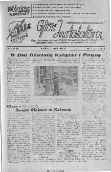 Głos Instalatora : organ Podstawowej Organ.[izacji] Partyjnej PZPR, Rad Zakładowych, Dyrekcji i ZMP Zjednoczenia Instalacji Sanitarnych B.M. Radom, 1945, nr 11(26)
