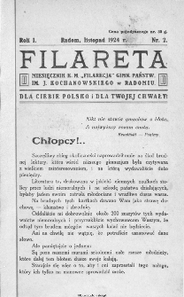 """Filareta : miesięcznik K. M. """"Filarecja"""" Gimnazjum Państwowego im. J. Kochanowskiego w Radomiu, 1924, nr 2"""