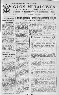 Głos Metalowca : organ Komitetu Zakładowego PZPR, Rady Zakładowej, ZMP Zakładów Metalowych w Skarżysku-Kamiennej, 1953, nr 23