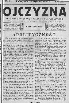 Ojczyzna : tygodnik oświatowo-społeczny dla wszystkich, 1929, nr 2