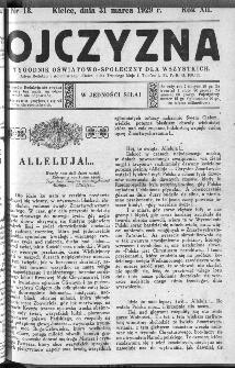 Ojczyzna : tygodnik oświatowo-społeczny dla wszystkich, 1929, nr 13