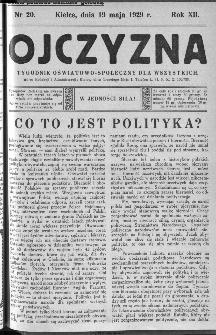 Ojczyzna : tygodnik oświatowo-społeczny dla wszystkich, 1929, nr 20