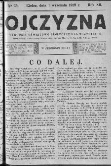 Ojczyzna : tygodnik oświatowo-społeczny dla wszystkich, 1929, nr 35