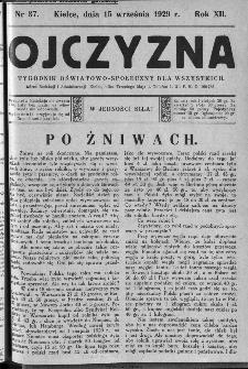 Ojczyzna : tygodnik oświatowo-społeczny dla wszystkich, 1929, nr 37