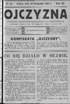 Ojczyzna : tygodnik oświatowo-społeczny dla wszystkich, 1929, nr 45