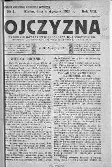 Ojczyzna : tygodnik oświatowo-społeczny dla wszystkich, 1925, nr 1