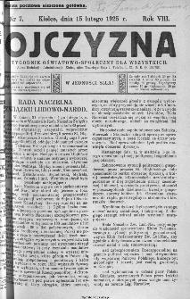Ojczyzna : tygodnik oświatowo-społeczny dla wszystkich, 1925, nr 7