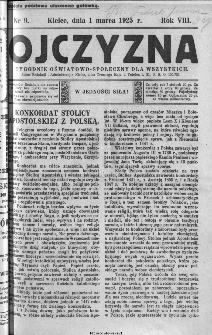 Ojczyzna : tygodnik oświatowo-społeczny dla wszystkich, 1925, nr 9