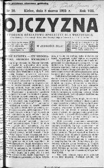 Ojczyzna : tygodnik oświatowo-społeczny dla wszystkich, 1925, nr 10