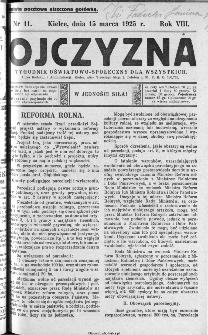 Ojczyzna : tygodnik oświatowo-społeczny dla wszystkich, 1925, nr 11
