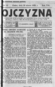 Ojczyzna : tygodnik oświatowo-społeczny dla wszystkich, 1925, nr 13