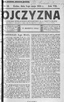 Ojczyzna : tygodnik oświatowo-społeczny dla wszystkich, 1925, nr 18