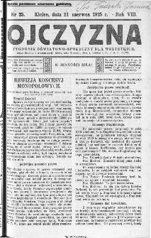 Ojczyzna : tygodnik oświatowo-społeczny dla wszystkich, 1925, nr 25