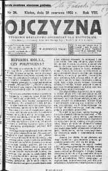 Ojczyzna : tygodnik oświatowo-społeczny dla wszystkich, 1925, nr 26