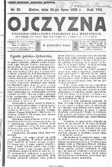 Ojczyzna : tygodnik oświatowo-społeczny dla wszystkich, 1925, nr 30