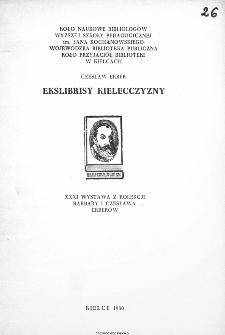Ekslibrisy Kielecczyzny: XXXI wystawa z kolekcji Barbary i Czesława Erberów