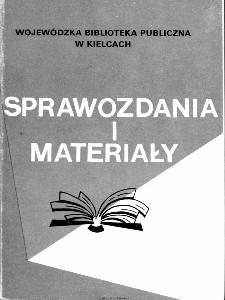 Sprawozdania i materiały Wojewódzkiej Biblioteki Publicznej w Kielcach 1994