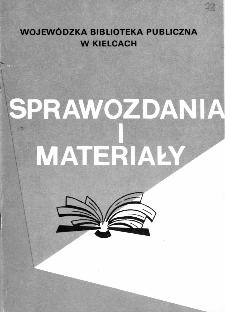 Sprawozdania i materiały Wojewódzkiej Biblioteki Publicznej w Kielcach 1993