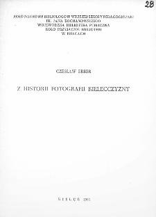 Z historii fotografii Kielecczyzny