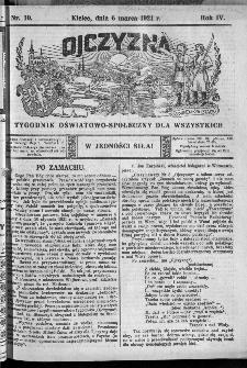 Ojczyzna : tygodnik oświatowo-społeczny dla wszystkich, 1921, nr 10