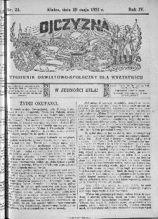 Ojczyzna : tygodnik oświatowo-społeczny dla wszystkich, 1921, nr 22