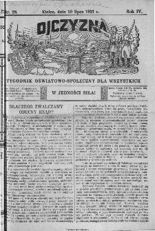 Ojczyzna : tygodnik oświatowo-społeczny dla wszystkich, 1921, nr 28