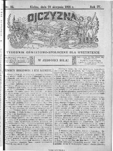 Ojczyzna : tygodnik oświatowo-społeczny dla wszystkich, 1921, nr 35