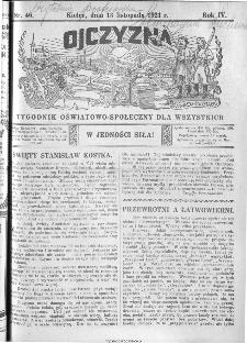 Ojczyzna : tygodnik oświatowo-społeczny dla wszystkich, 1921, nr 46