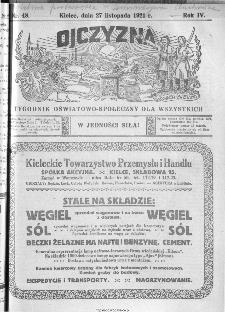 Ojczyzna : tygodnik oświatowo-społeczny dla wszystkich, 1921, nr 48