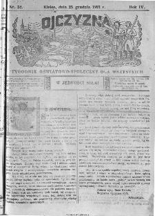 Ojczyzna : tygodnik oświatowo-społeczny dla wszystkich, 1921, nr 52