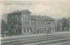Jedrzejów stacja kolejowa 1916